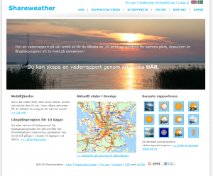Shareweather start page